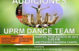 AUDICIONES UPRM DANCE TEAM